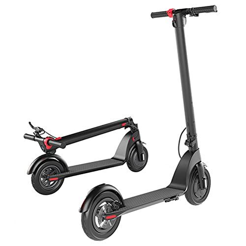 YX-ZD Scooter Eléctrico Plegable Portátil para Adultos, Scooter Eléctrico De 10 Pulgadas, Neumáticos De Vacío, 20 mph, 28 Libras, Bicicleta Eléctrica De Cuerpo Ultraligero