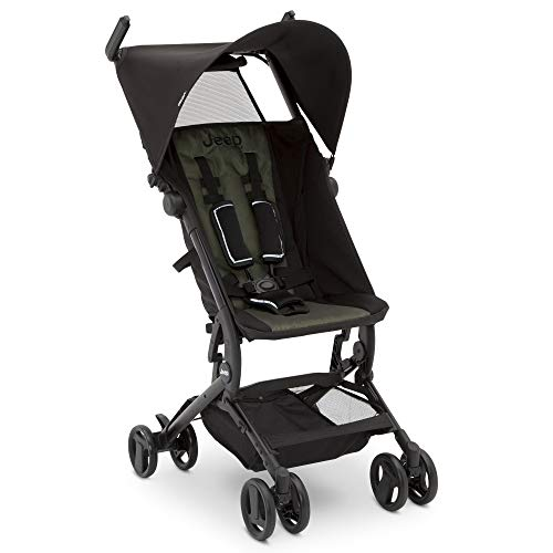 Discover Bargain Jeep Clutch Plus Travel Stroller with Reclining Seat by Delta Children, Black/Olive...