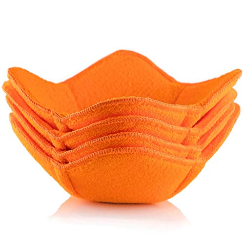 Shila Bowl Huggers, Orange Set of Microwave Safe Hot Bowl Holder to Keep Your Hands Cool and Your...