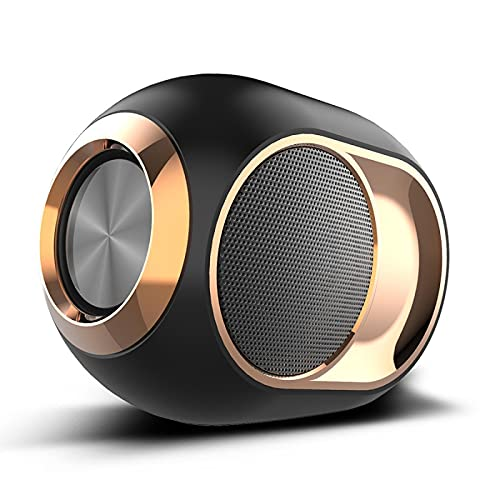 Bluetooth-Lautsprecher Drahtloser Golden Egg Tandem Subwoofer U-Disk-Karte Audio Perfekter Mini-Wireless-Lautsprecher 黑色