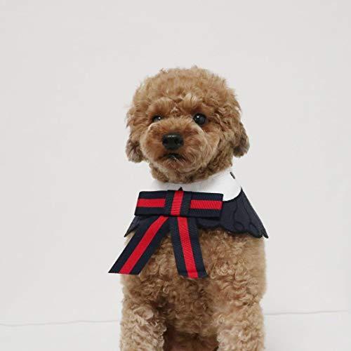 HVTKL Hond kleding 2019 lente en zomer nieuwe hond boog sjaal Teddy beer hond accessoires, L, 3-color shawl Yellow