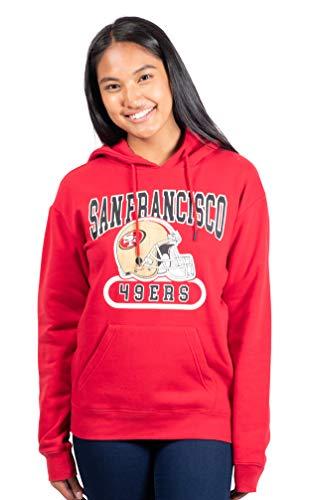 Ultra Game NFL San Francisco 49ers Womenss Fleece Hoodie Sweatshirt, Team Color, X-Large