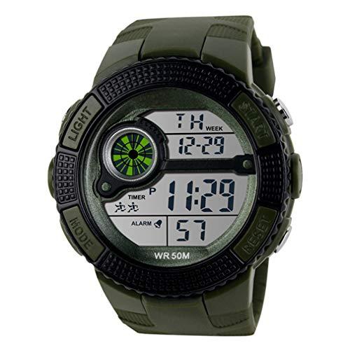 JIEGEGE LED-Digital Uhr-Militäruhr, Laufende Kleider Sportuhren, Art- Und Weise Armbanduhren Im Freien, Spezieller Verhärteter Spiegel Ist Nicht Einfach Zu Tragen, Wasserdicht