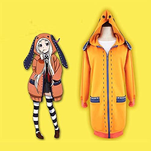 YBINGA Disfraz de cosplay Yomotsuki Runa 9 piezas Kakegurui uniforme escolar sudadera con capucha para niñas bonitas JK juego completo con peluca Halloween JP disfraz grande para fiesta (color medio)