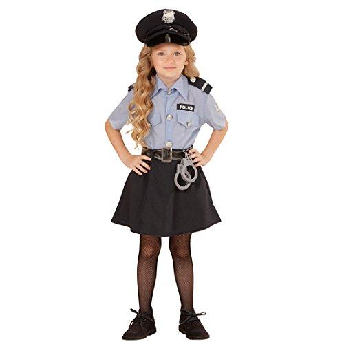Amakando Polizeikostüm Mädchen Kinder Polizistin Kostüm XS 116 cm Polizistinkostüm Uniform Kinderkostüm Politesse Polizistinnenkostüm Polizei Verkleidung