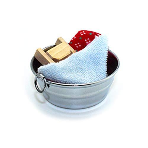 lijun simulación Mini bañera de Lavado Tanque de Lavado 1:12 Accesorios de casa de muñecas en Miniatura Manualidades Juguetes decoración de baño