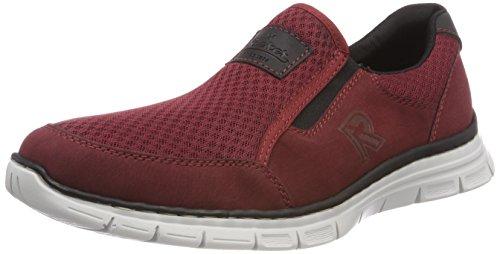 Rieker Herren B4873 Slip On Sneaker, Rot (Medoc/Bordeaux/Schwarz), 41 EU