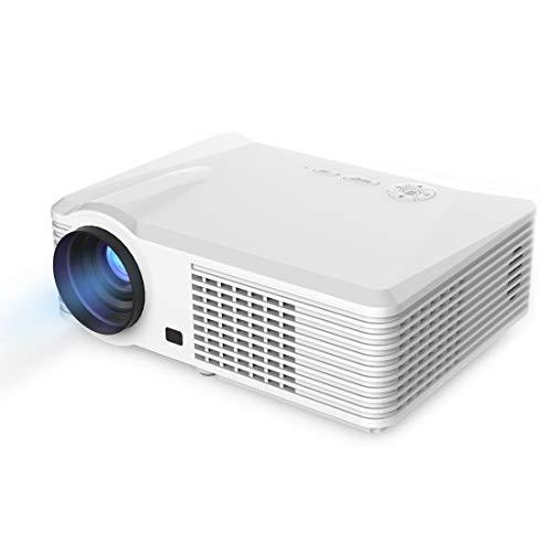 Proiettore portatile Proiettore BarcoMax PRS200 120W LED Proiettore LCD video for il teatro domestico/ufficio (nero) (Color : White)