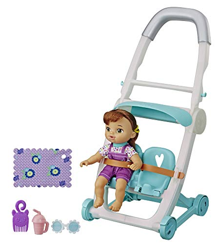 Baby Alive Littles Muñeca Castaña con Carreola Doll