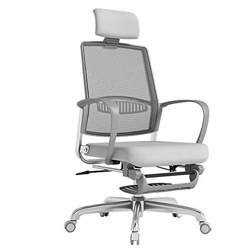 Qi Peng-//Chaise pivotante - Chaise d'ordinateur Maison Chaise Ergonomique inclinable Chaise de Bureau Pause déjeuner Chaise de Jeu Esports Chaise Rotating Boss Chaise pivotante (Couleur : A)