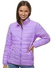 OZONEE JB/JP1141 Overgangsjas voor dames, bomberjack, opstaande kraag, capuchon, gewatteerde jas, lichte outdoor bufferjas, gewatteerde jas