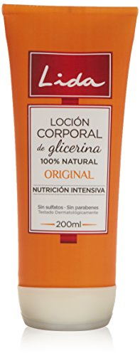 Lida Glicerina Original 100% Natural Loción Corporal - 200 ml