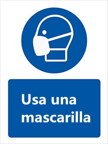 Letrero de seguridad Vinly Decal - Stop Coronavirus - Letreros de equipo de protección personal Letrero de seguridad Prevenir COVID-19 (25 x 33 cm)