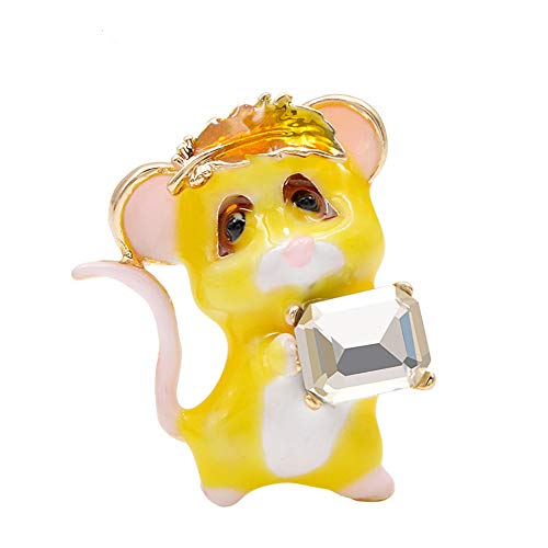 Cute Enamel Mouse Brooch Little Animal Brooches Kids Jewelry Coat Accessories