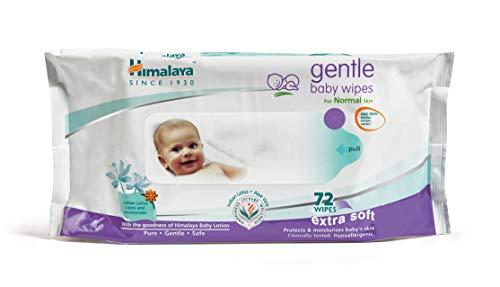 Himalaya Gentle Baby Wipes, 72 Wipes