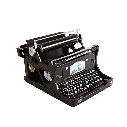 Máquina de Escribir Modelo, Nostalgia Retro Viejo Modelo de máquina de Escribir Adornos Sala de café decoración de la Barra Suave Viva de los Artes máquina de Escribir Negro,A