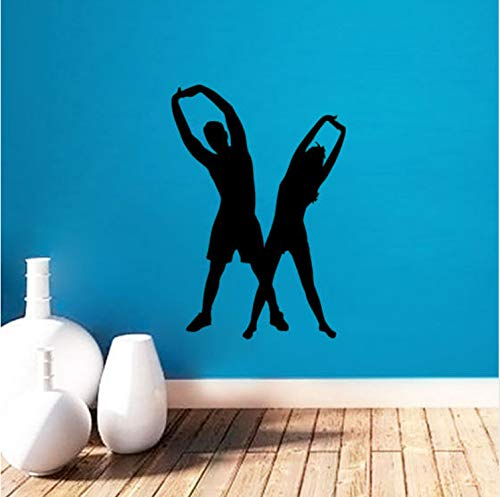 xsongue Removable Sport Life Style Wall Sticker Man and Woman Warm-Up Exercise Fitness Wall Sticker Home Decor Vinyl Art Wallpaper