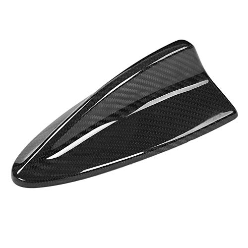 DHFBS Real Carbon Autodak Antenne Antennes Haaienvin Styling Antenne Cover Radio Trim Zwart, Voor BMW M E46 E90 E60 E61