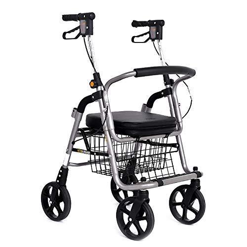 Z-SEAT Einkaufswagen deaktiviert höhenverstellbares Riemenrad mit Walker Rollator Aluminiumlegierung faltbar tragbare alte Mann Lebensmitteleinkaufswagen