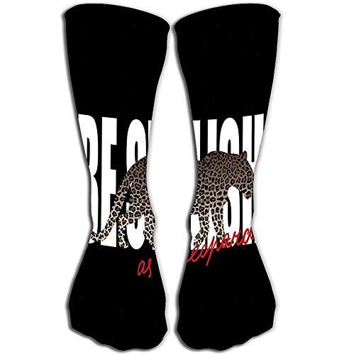 NGMADOIAN vrouwen 'meisjes nieuw sokken 50 cm grappige laarzen sokken zijn stijlvolle print luipaard silhouet patroon zijn stijlvolle dierenprint