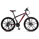 LILIS Bicicleta Montaña Bicicleta de montaña de la Bici Adulta del Camino de MTB Luz Bicicletas for Hombres y Mujeres 24/26 Pulgadas Ruedas Ajustables Velocidad Doble Freno de Disco
