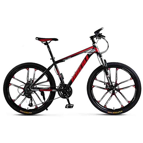 SOAR Mountain Bike Biciclette Mountain Bike for Adulti MTB Luce Strada Biciclette for Uomini e Donne 24/26 Pollice Ruote Regolabile velocità Doppio Freno a Disco (Color : Red-26in, Size : 21 Speed)