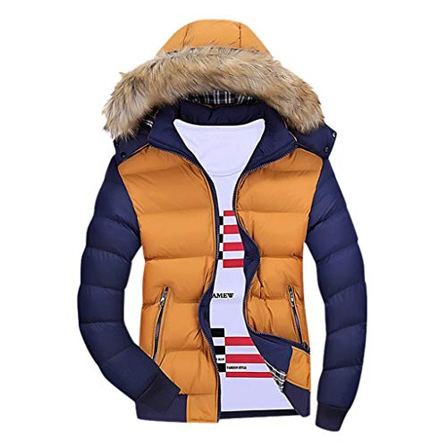 Buy Bargain FengGa Men Casual Winter Zipped Warm Tracksuit Patchwork Long Sleeve Outwear Thicken Cot...