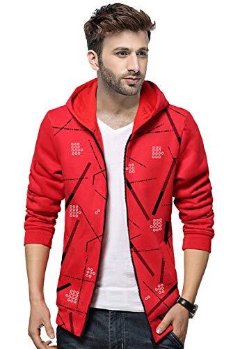 BLIVE Full Sleeve Printed Mens Hooded Jacket | Mens Hoodies | Zipper Jacket