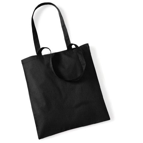 Stoffbeutel Baumwolltasche Beutel Shopper Umhängetasche viele Farbe Black