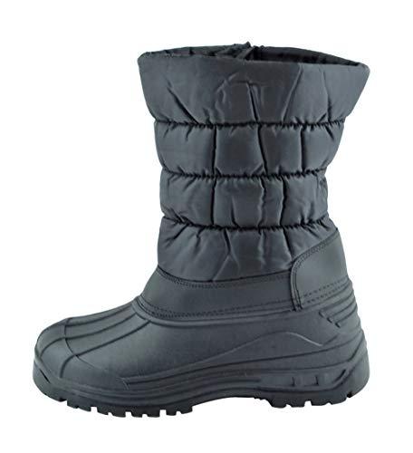 Happy Bull Men's Water Resistant Zipper Comfort Cold Winter Snow Boots (Y06) Black 10 M US