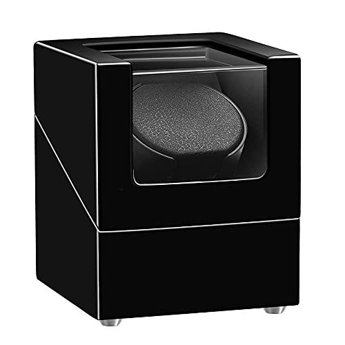 Sepano Automatik-Uhrenbeweger mit japanischem Mabuchi-Motor,doppeltem Netzteil und Aufbewahrungsbox aus Holz für Automatikuhren
