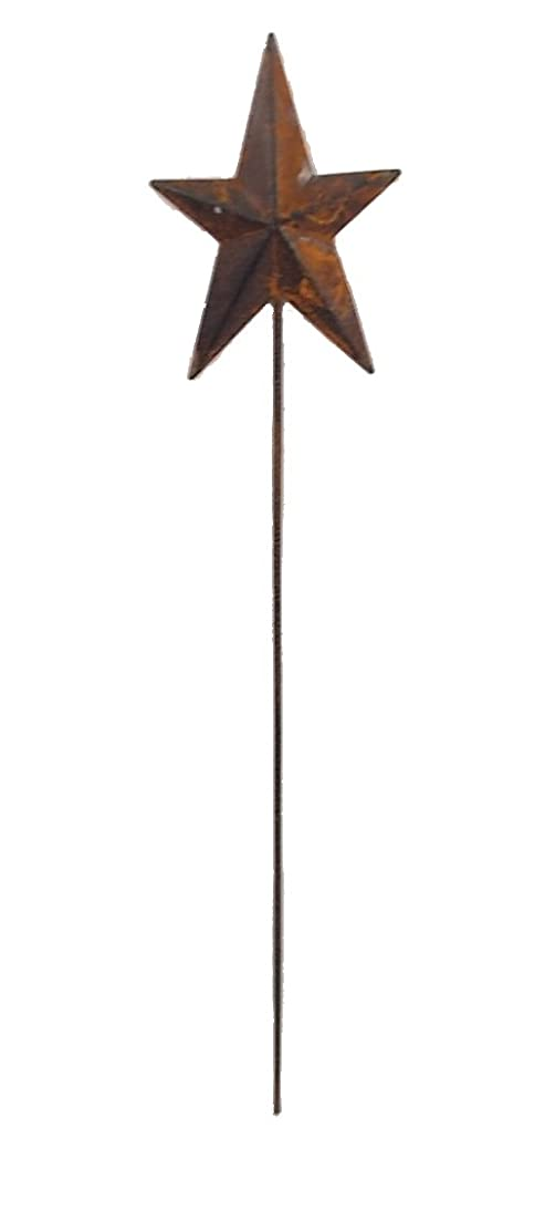 Craft Outlet Rusty Tin Star Picks, 15-Inch, Set of 6