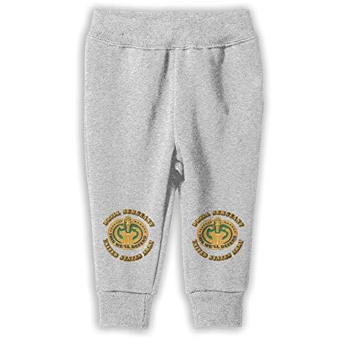 RUIANSHISHENGYOUDA Army Drill Sergeant Girlâ€s Child Cotton Pants Gray