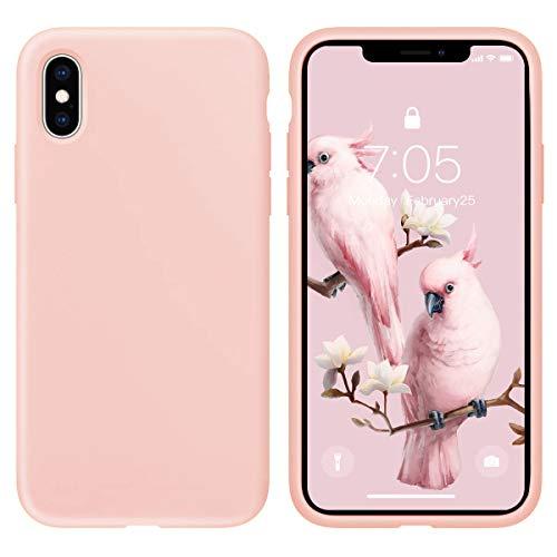 Oihxse Silicona Matorral Funda Compatible con iPhone SE 2020/iPhone 7/iPhone 8/iPhone 9 Case Ultra Delgada Suave TPU Protector Carcasa Moda Linda Color Anti-Rasguño Caso Bumper Cover (Rosa)