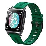 YQY Smart Watch con Monitor de Ritmo cardíaco, 1.54 HD Pantalla de Pantalla táctil Grande, rastreador de Actividades, podómetro Impermeable IP67 con Monitor de suspensión, Contador de Pasos