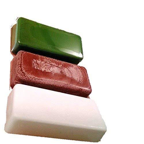 有明鍍研材工業 青棒 赤棒 白棒 3個セット 固形 バフ用研磨剤 鏡面仕上げ用