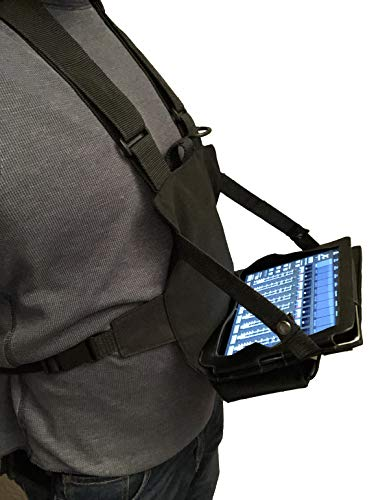 Gig Gear Two Hand Touch Tablet Chest Harnesss. Compatible with iPad/Galaxy/Surface - Rugged, Heavy Duty, Durable Case and Chest Pack (Devices Up to 12.9 Inch)
