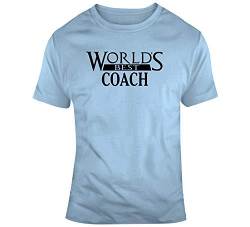 TIANWEI personalizado del mundo mejor entrenador personalizado trabajo carrera camiseta azul claro