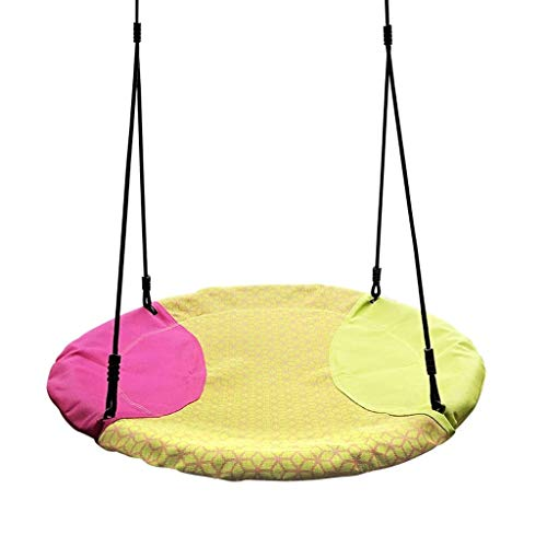 JOLLY Hanging Swing Nest Pillow, Double Hammock Daybed Saucer Style Lounger Swing, 264 Pound Capacity Indoor/Outdoor Use (Color : B)