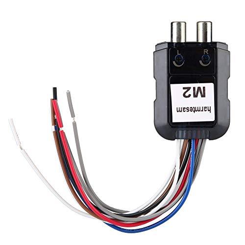Outbit audioconverter - 1 PC auto stereo subwoofer 2-kanaals audioconverter met power versterker stuurkabel.