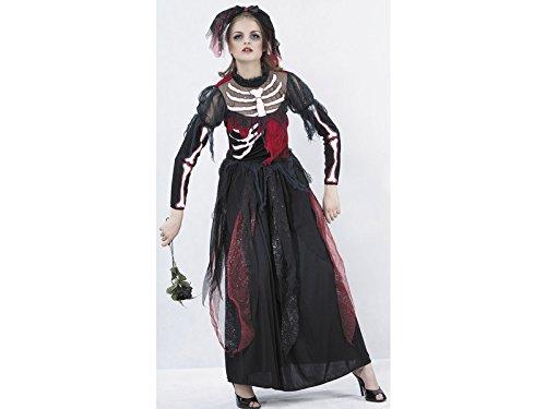 JUGUETILANDIA Disfraz Novia Esqueleto Mujer Talla XL