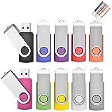 Cle USB 4Go Lot Clé USB 2.0 Cles USB Originale Clef USB Stockage Carte Flash Drive Stylo Lecteur avec Cordes (10...