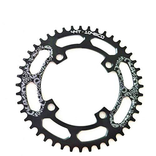 SWEETQT / Compatible 104BCD 40/42/44/46/48/50/52 T Mountain Bicycle MTB Bicicleta para bielas de 8-12 velocidades Plato de Aluminio