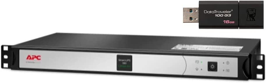 APC Smart-UPS SCL500RM1UC Rack Mount UPS Bundle with SmartConnect, and 16GB DataTraveler USB Drive