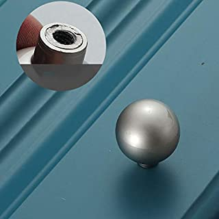Cabinet Dresser Knobs, Traditional Furniture Knobs Hardware Round Knob Pull, 0.95 Inch Diameter, for Home Kitchen Wardrobe...