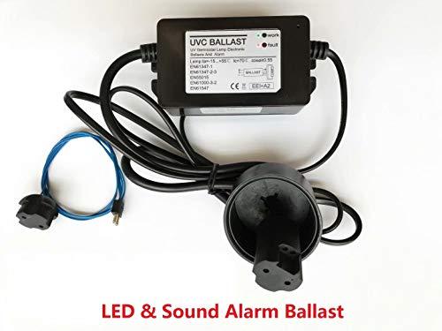 Ersatz UV-Ballast 55W fur Philips UV-Lampe Wasser UV-Sterilisator, mit LED und Schall alarmierend, UV-germizid-Lampe elektronischen Ballast und Alarm