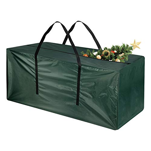 TUPARKA Christmas Tree Storage Bag Large Storage Bag, for up to 7' Tree, 48' x 15' x 22'(Green)