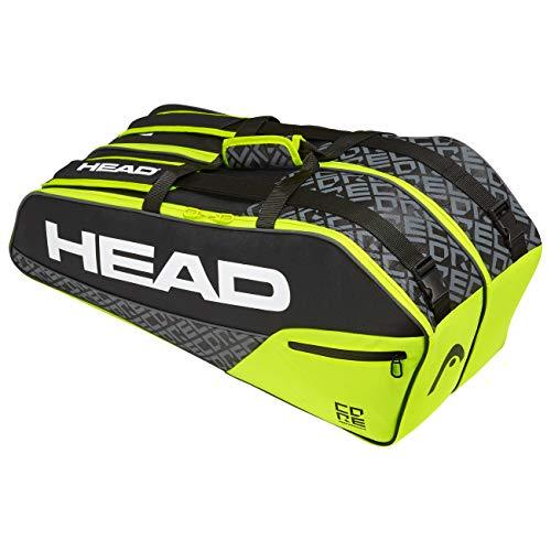 HEAD Core 6R Combi, Borsa per Racchetta Unisex Adulto, Nero/Giallo Neon