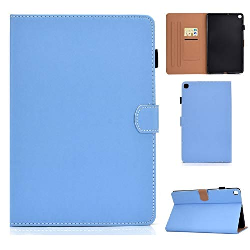 XINGCHEN Tablet PC Shell For Galaxy Tab S5e T720 Solid Color Tablet PC Universal Magnetic Horizontal Flip Leather Case with Card Slots & Holder Case Cover (Color : Blue)