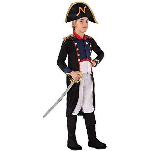 atosa 70077 costume da generale francese bambino napoleone t-3 (7/9 anni)